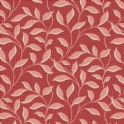 Braveheart by Makower UK - 6639 - Leafy Vines, Pink  on Red  - 9177_R - Cotton Fabric
